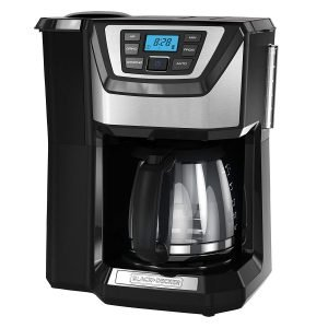 Best BLACK+DECKER 12-Cup with built in grinder